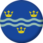 Cambridgeshire County Flag 58mm Button Badge